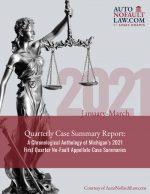 First Quarter 2021 No-Fault Case Summary Report