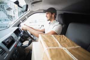 driver delivering package