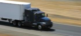 semi-truck speeding on the highway